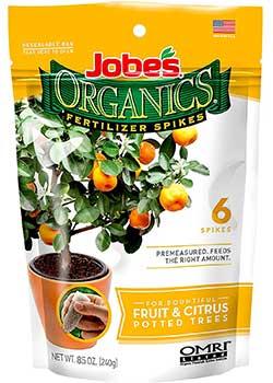 Jobe's Organic Fruit & Citrus Fertilizer Spikes